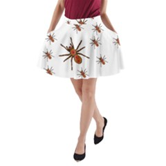 Nature Insect Natural Wildlife A Line Pocket Skirt
