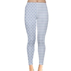 Alice Blue Hearts In An English Country Garden Classic Winter Leggings