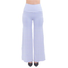 Alice Blue Hearts In An English Country Garden So Vintage Palazzo Pants by PodArtist