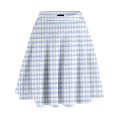Alice Blue Hearts In An English Country Garden High Waist Skirt by PodArtist