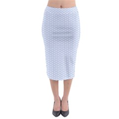 Alice Blue White Kisses In English Country Garden Midi Pencil Skirt by PodArtist