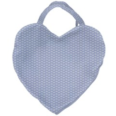 Alice Blue White Kisses In English Country Garden Giant Heart Shaped Tote