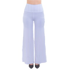 Alice Blue Pinstripe In An English Country Garden So Vintage Palazzo Pants by PodArtist