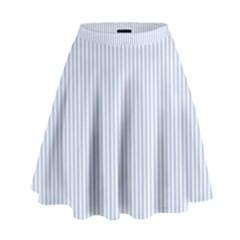 Alice Blue Pinstripe In An English Country Garden High Waist Skirt by PodArtist