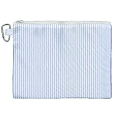 Alice Blue Pinstripe In An English Country Garden Canvas Cosmetic Bag (xxl)