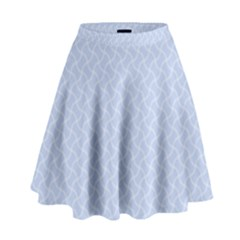 Alice Blue Mini Footpath In English Country Garden  High Waist Skirt by PodArtist