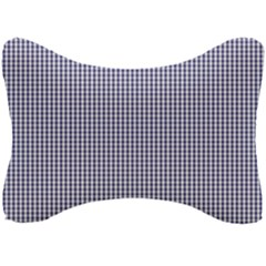 Usa Flag Blue And White Gingham Checked Seat Head Rest Cushion