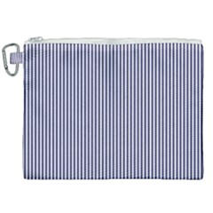 Usa Flag Blue And White Stripes Canvas Cosmetic Bag (xxl) by PodArtist