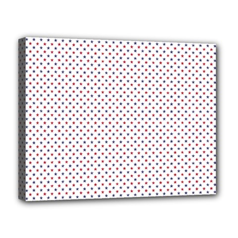 Usa Flag Red And Flag Blue Stars Canvas 14  X 11  by PodArtist