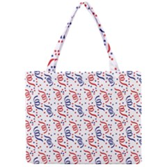 Red White And Blue Usa/uk/france Colored Party Streamers Mini Tote Bag by PodArtist