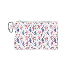 Red White And Blue Usa/uk/france Colored Party Streamers Canvas Cosmetic Bag (small) by PodArtist