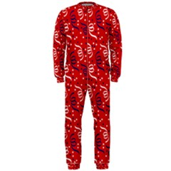 Red White And Blue Usa/uk/france Colored Party Streamers Onepiece Jumpsuit (men)