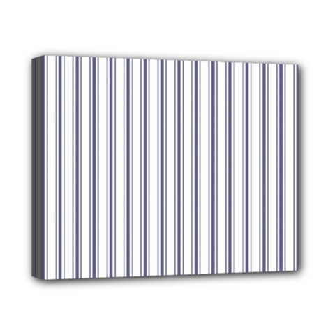 Mattress Ticking Wide Striped Pattern In Usa Flag Blue And White Canvas 10  X 8