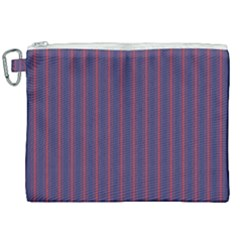 Mattress Ticking Wide Striped Pattern In Usa Flag Blue And Red Canvas Cosmetic Bag (xxl) by PodArtist