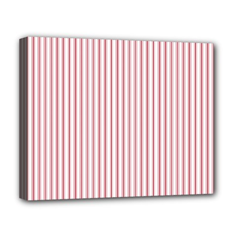 Mattress Ticking Narrow Striped Usa Flag Red And White Deluxe Canvas 20  X 16