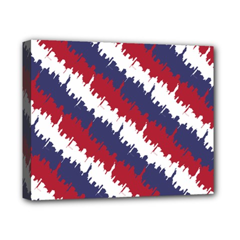 Ny Usa Candy Cane Skyline In Red White & Blue Canvas 10  X 8