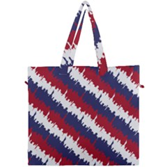 Ny Usa Candy Cane Skyline In Red White & Blue Canvas Travel Bag by PodArtist