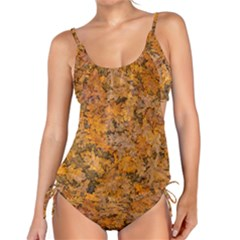 Leaves Motif Pattern Photo 2 Tankini Set