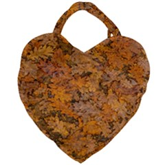 Leaves Motif Pattern Photo 2 Giant Heart Shaped Tote