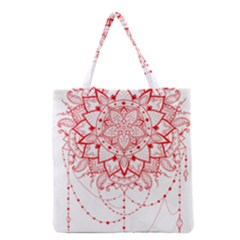 Mandala Pretty Design Pattern Grocery Tote Bag by Sapixe
