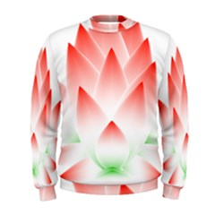 Lotus Flower Blossom Abstract Men s Sweatshirt