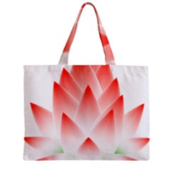 Lotus Flower Blossom Abstract Zipper Mini Tote Bag by Sapixe