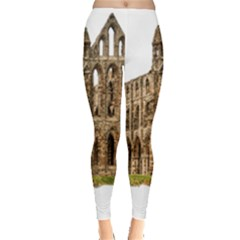 Ruin Monastery Abbey Gothic Whitby Leggings  by Sapixe