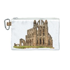 Ruin Monastery Abbey Gothic Whitby Canvas Cosmetic Bag (medium) by Sapixe