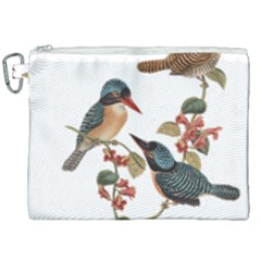 Bird Birds Branch Flowers Vintage Canvas Cosmetic Bag (xxl) by Sapixe