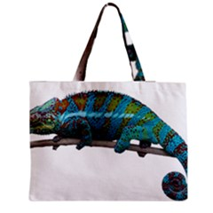 Reptile Lizard Animal Isolated Zipper Medium Tote Bag by Sapixe