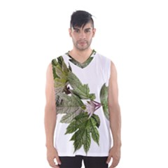 Leaves Plant Branch Nature Foliage Men s Basketball Tank Top by Sapixe