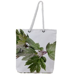 Leaves Plant Branch Nature Foliage Full Print Rope Handle Tote (large)