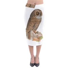Bird Owl Animal Vintage Isolated Midi Pencil Skirt