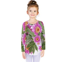 Daisies Flowers Arrangement Summer Kids  Long Sleeve Tee by Sapixe