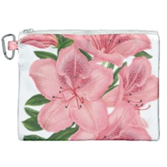 Flower Plant Blossom Bloom Vintage Canvas Cosmetic Bag (xxl) by Sapixe