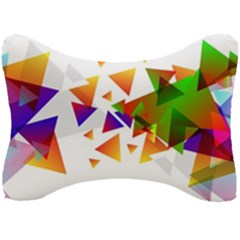 Abstract Pattern Background Design Seat Head Rest Cushion