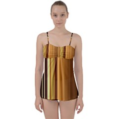 Course Gold Golden Background Babydoll Tankini Set
