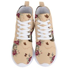 Flower Traditional Chinese Painting Women s Lightweight High Top Sneakers
