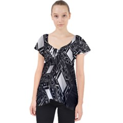 Technoid Future Robot Science Lace Front Dolly Top