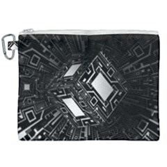 Technoid Future Robot Science Canvas Cosmetic Bag (xxl) by Sapixe