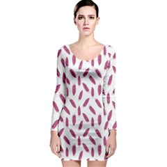 Cacao Fruits Pattern Long Sleeve Bodycon Dress