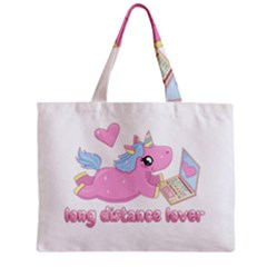 Long Distance Lover   Cute Unicorn Zipper Mini Tote Bag by Valentinaart