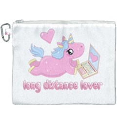Long Distance Lover   Cute Unicorn Canvas Cosmetic Bag (xxxl) by Valentinaart