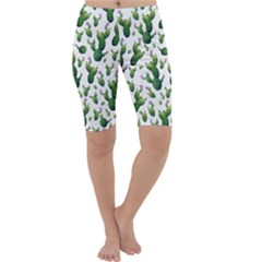 Cactus Pattern Cropped Leggings