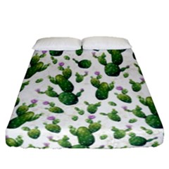Cactus Pattern Fitted Sheet (queen Size)
