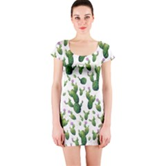 Cactus Pattern Short Sleeve Bodycon Dress