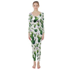 Cactus Pattern Long Sleeve Catsuit