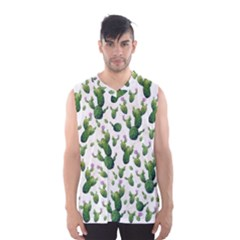 Cactus Pattern Men s Basketball Tank Top