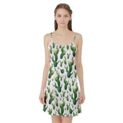 Cactus Pattern Satin Night Slip