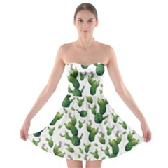 Cactus Pattern Strapless Bra Top Dress